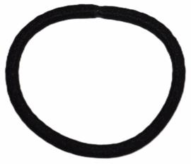 Haarelastiekje zwart +/- 45 mm, dikte 4mm