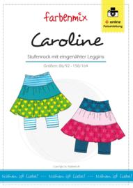 Farbenmix papier patroon rok+legging Caroline  86/92 -158/164