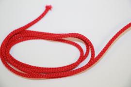 Koord katoen rond 3mm rood per meter