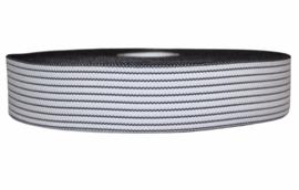 Wit zwart fancy elastiek 40 mm per 0,5 meter