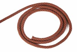 Koord rond licht elastisch oranje/grijs 5mm, per meter