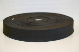 Soepel elastiek zwart 40 mm breed per meter