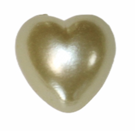 Flatback hartje zachtgeel 10mm, per stuk
