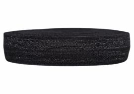 Elastisch band zwart 16 mm per 5 meter
