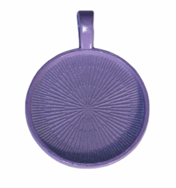 Cabochon setting lilac 25mm