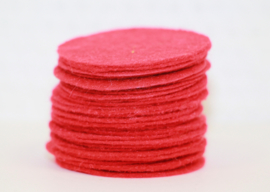 Rond viltje rood 40 mm, per stuk