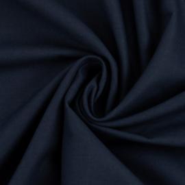 Effen katoen:  donkerblauw (Swafing) per 25 cm