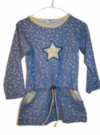 Dress golden star LAATSTE 98