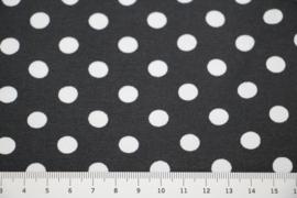 Tricot antraciet met witte stippen 1cm per 25cm