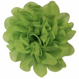Stoffen bloem 10 cm limegroen