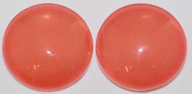 Glas flatback cabochon 12mm oranje per 2 stuks