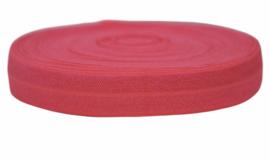 Elastisch band neon oranje/roze 16 mm per 0,5 meter