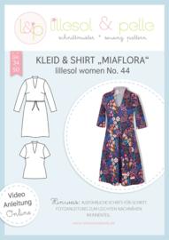 Lillesol & Pelle women jurk en shirt Miaflora maat 34 t/m 50