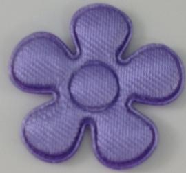 Bloem applicatie 20 mm lilla effen satijn per 5 stuks