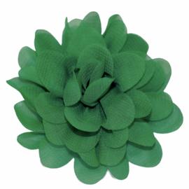 Stoffen bloem 7 cm groen