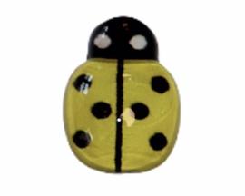 Flatback lieveheersbeestje klein geel 14x10 mm