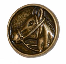 Knoop metaal met paard 15mm