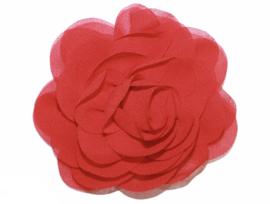 Stoffen bloem 8 cm rood