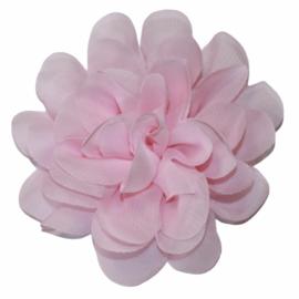 Stoffen bloem 10 cm babyroze