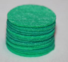 Rond viltje mintgroen 25mm, per stuk