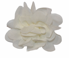 Stoffen bloem 5 cm cremewit