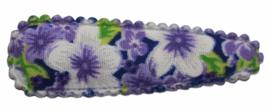 kniphoesje katoen paars gebloemd 5 cm