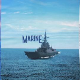 Panel digitale French terry tricot: Marine  75x150 cm Stenzo