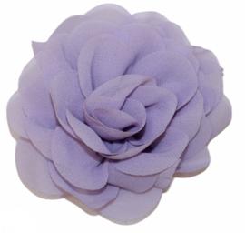 Stoffen bloem 8 cm lila