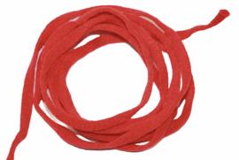 mondkapje elastiek rood plat 5mm, per meter