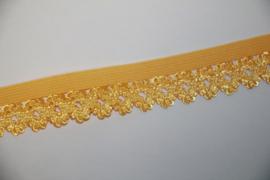 Elastisch kantje geel 20mm per 0,5 meter