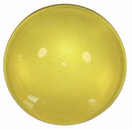 Glascabochon 20mm geel