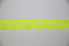 Elastisch kantje neon geel 13mm per 0,5 meter