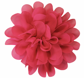 Stoffen bloem 10 cm donkerroze