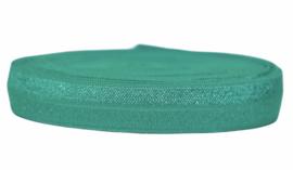 Elastisch band zeegroen 16 mm per 0,5 meter
