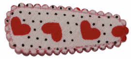 kniphoesje katoen wit met stipjes en rode hartjes 3 cm