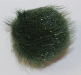 Pompom 18 mm donkergroen