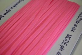 Elastisch paspelband glans/mat neonroze per 0,5 meter
