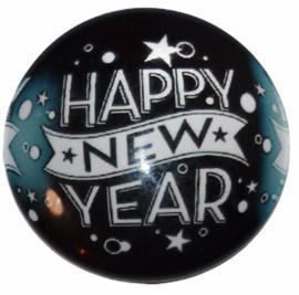 Glas cabochon 25mm: Happy new year