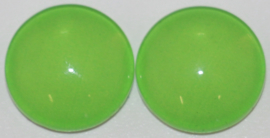 Glas flatback cabochon 12mm grasgroen per 2 stuks