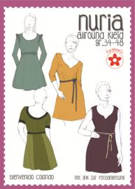 Farbenmix papier patroon Nuria damesjurk  34-48