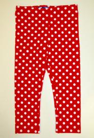 Legging red/white dots  92-140