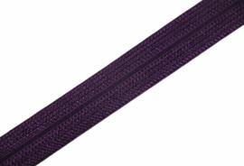 Elastisch biaisband/vouwtres JACQUARD kleur paars 20 mm per 0,5 meter