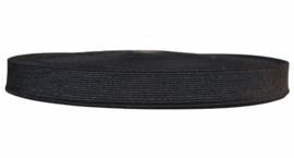 Soepel elastiek zwart  20 mm breed per meter