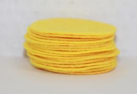 Rond viltje geel 40 mm, per stuk