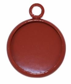 Bedeltje met setting 12 mm rood, per stuk