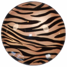 Glas cabochon 25mm: panterprint