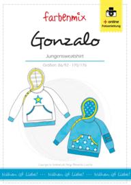 Farbenmix papier patroon jongenssweater Gonzalo  86/92 - 170/176