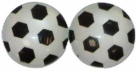 12 mm glascabochons voetbal per 2 stuks