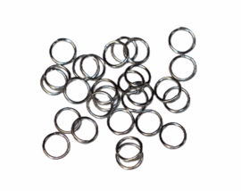 Ringetjes 6 mm met opening RVS, per 10 stuks