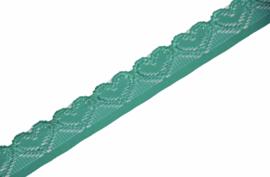 Elastisch kant hartjes mint 18mm, per 0,5 meter